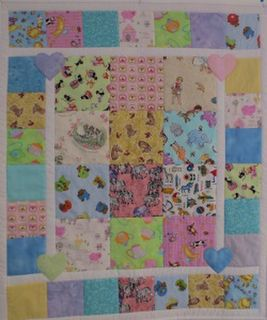 Child's Cot Quilt - Baby Love